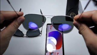 Test polarizare lentile ochelari Cum testezi ochelarii polarizati V-a pacalit cineva sau ...