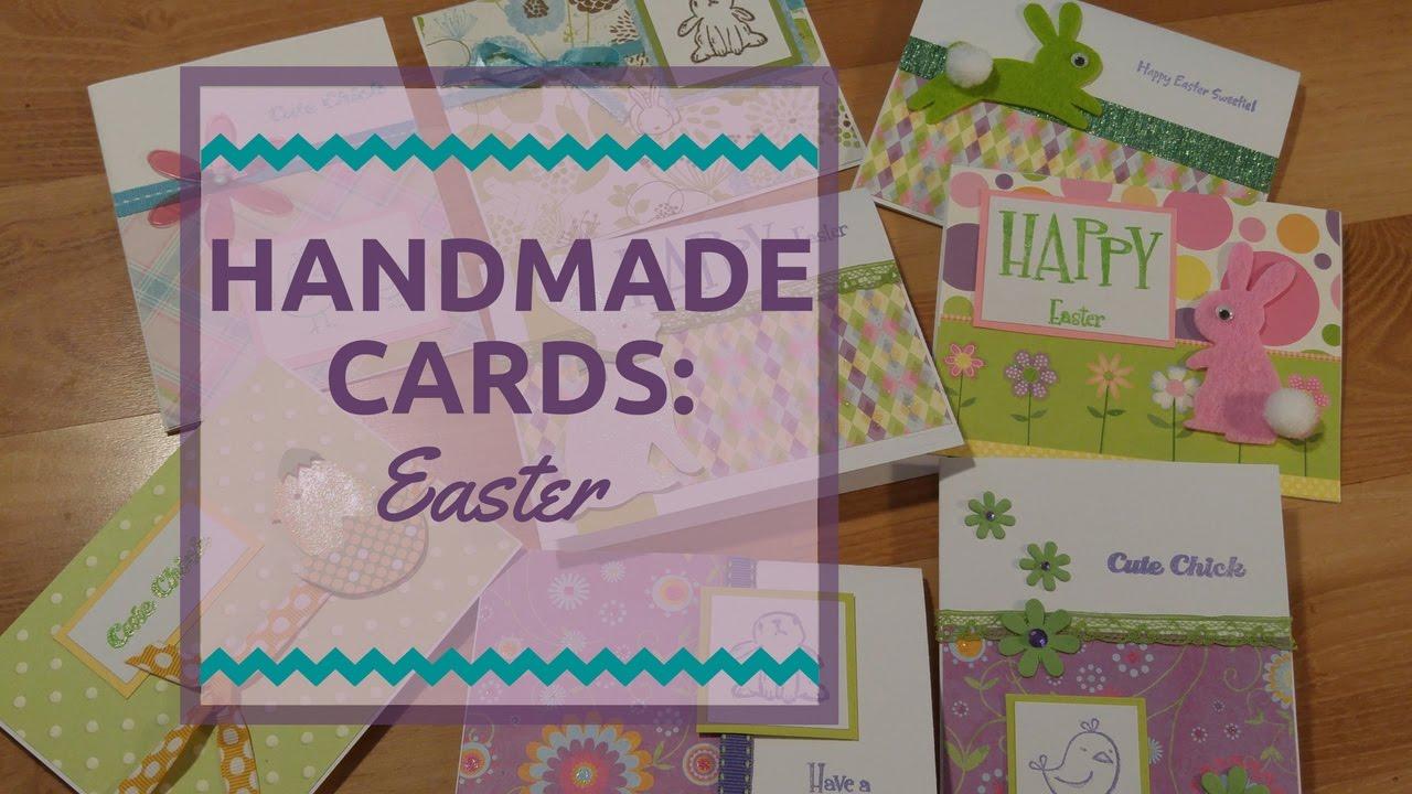 Handmade Easter Cards Youtube
