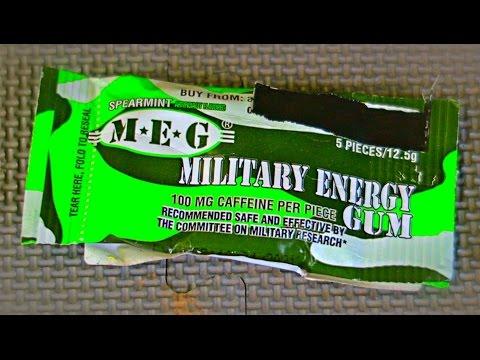 Military Energy Gum Taste Test