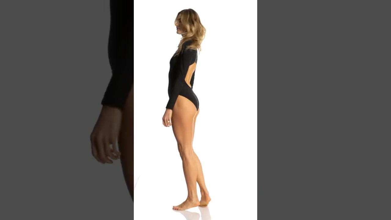 c5083392724 Red Carter Splice & Dice Long Sleeve One Piece Swimsuit   SwimOutlet.com