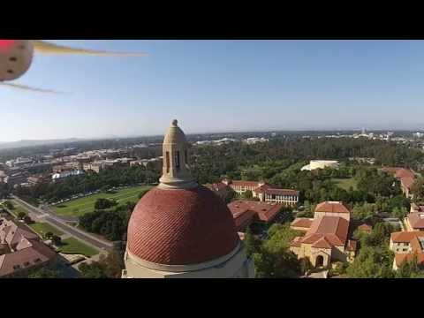 Checking out the Hoover Tower at Stanford - DJI Phantom