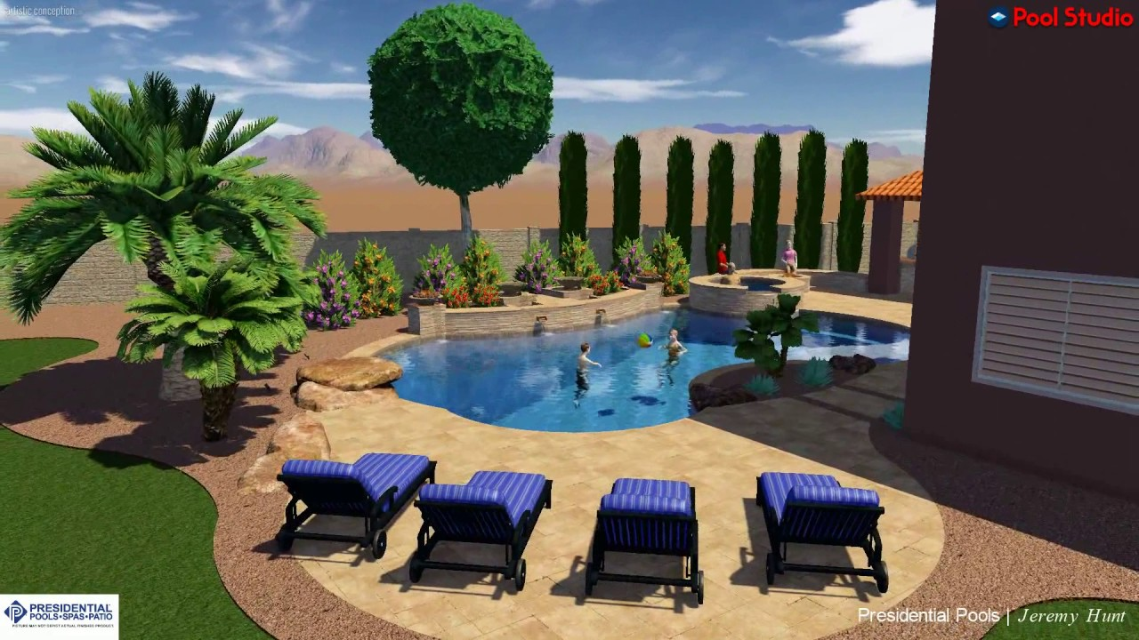 phillips family backyard concept by presidential pools designer