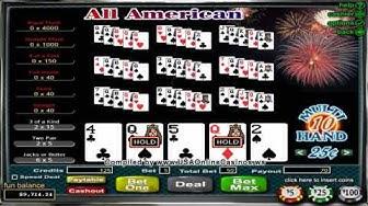 Desert Nights Casino  All American Poker 10 Hand Video Poker