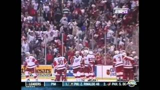 Kris Draper Overtime Goal (Game 2 1998 SCF - Dual Feed)