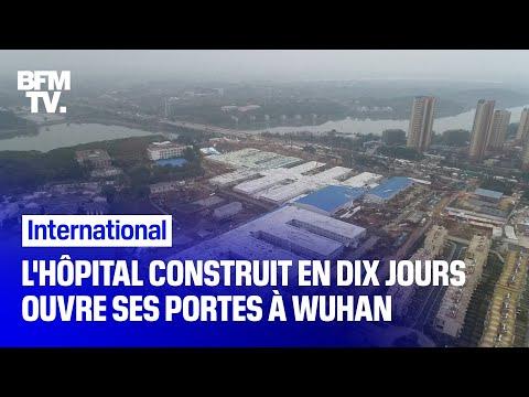 Coronavirus: l'hôpital construit en dix jours ouvre ses portes à Wuhan