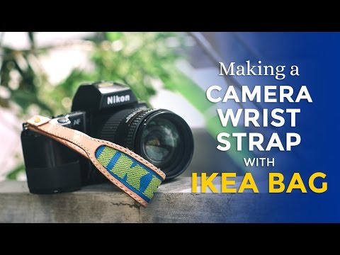 960137ee2a84e Making a Camera Wrist Strap with IKEA BAG ⧼Week 19 52⧽ - YouTube