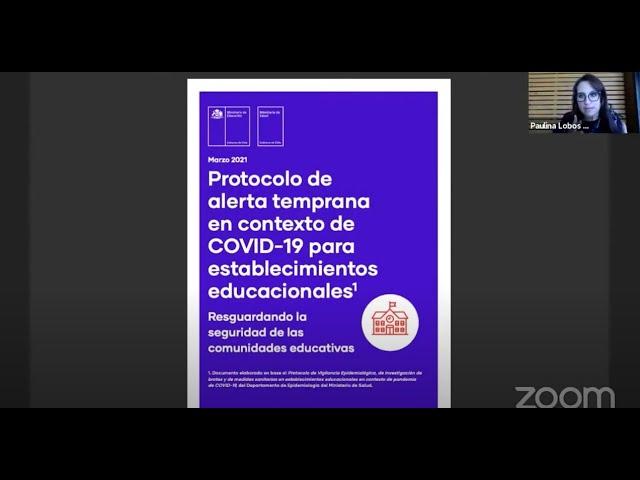 Webinar - Preguntas y respuestas con la directora provincial de educación, Paulina Lobos