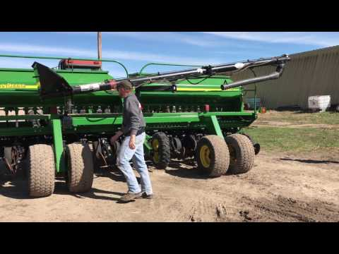 Putting a drill fill auger on a 1560 drill