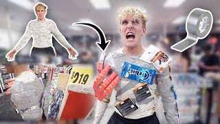 INSANE DUCT TAPE SUIT IN PUBLIC (DUCT TAPE MAN) thumbnail