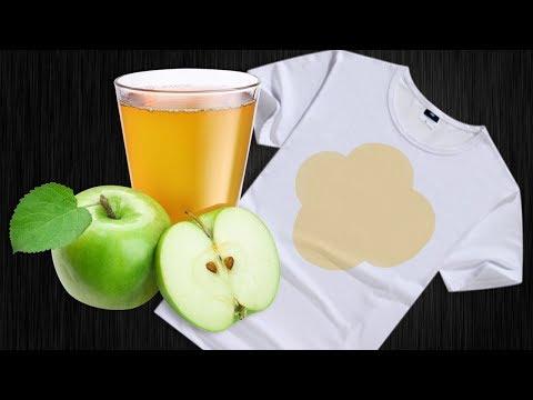 Как отстирать яблочный сок с одежды в домашних условиях