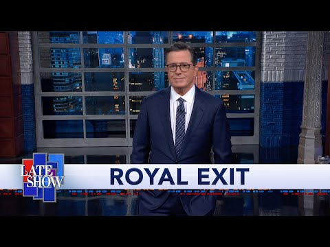 """Colbert Bets Meghan Markle and Prince Harry """"Will Stay on the Queen's Verizon Family Plan"""""""