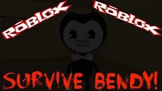 Survive Bendy! СПАСАЙТЕСЬ кто может! Выживание в Роблокс Детское видео Мульт игра