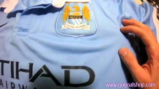 Man City home jersey 2015/16 Review - www.gogoalshop.com