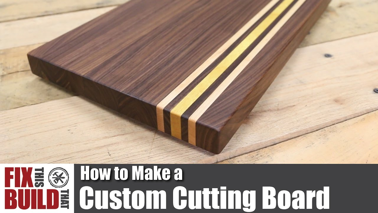 Custom cutting board from scrap wood how to make youtube for Diy personalized wood cutting board
