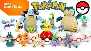 Pokémon Blastoise Pikachu Snorlax Teddiursa Sneasel Mankey Crabralwer Mimikyu Spinarak Mega Construx
