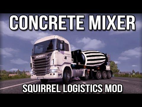 Concrete Mixer (Squirrel Logistics Mod) - Euro Truck Simulator 2