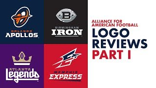 Logo Design Review | The Alliance of American Football Franchises (Part 1)