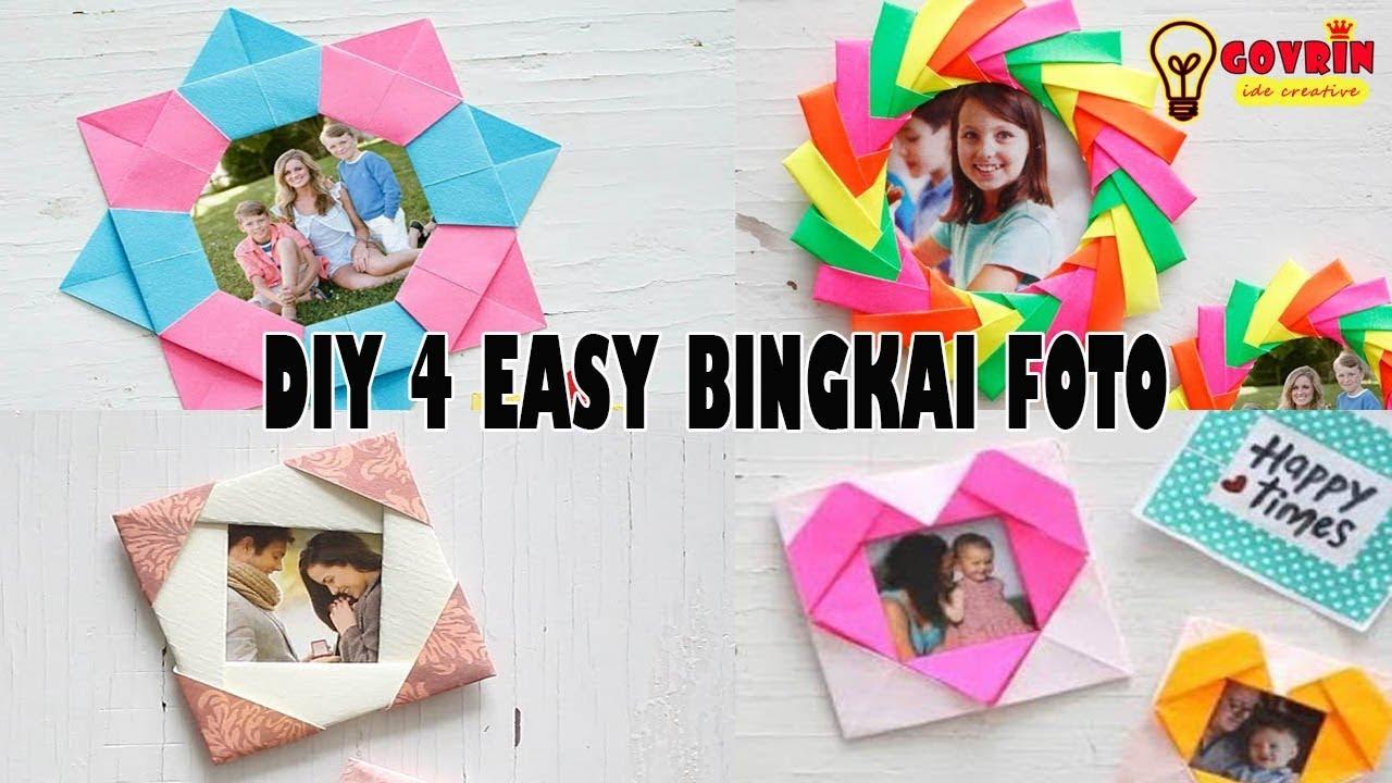 Top Diy 4 Bingkai Foto Dari Kertas Origami Keren Youtube