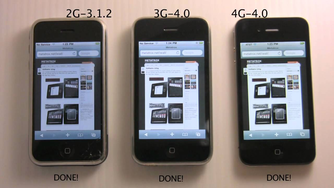 when did the iphone 4 come out iphone comparison 4g vs 3g vs 2g 20583