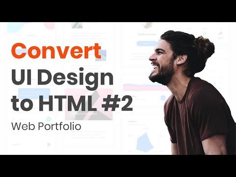 HTML Tutorial :  Convert UI Design To HTML #2 Responsive Navbar & Jumbotron
