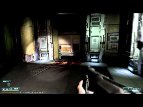 Doom 3 walkthrough - Delta Labs - Sector 3