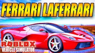 BUY A FERRARI LAFERRARI SUPERBIL-VEHICLE SIMULATOR-ENGLISH ROBLOX-[#22]