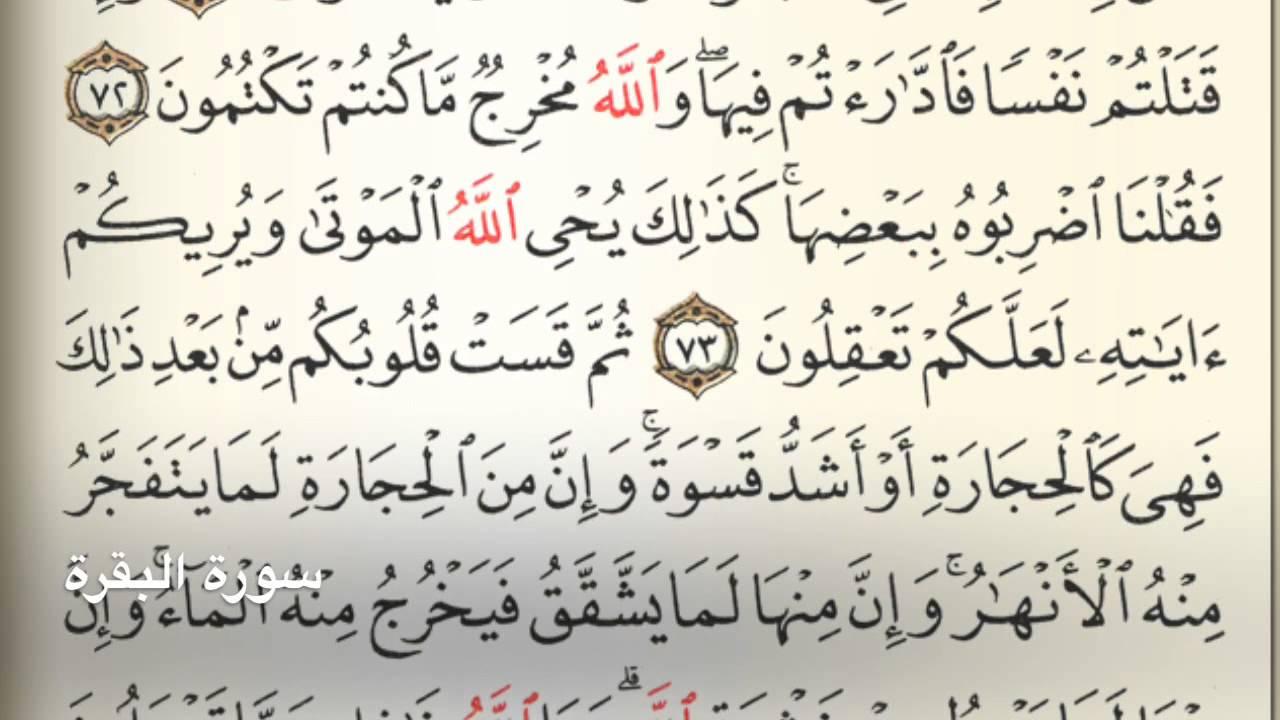 سورة البقرة Holy Quran Chapter 2 Page 11 Youtube