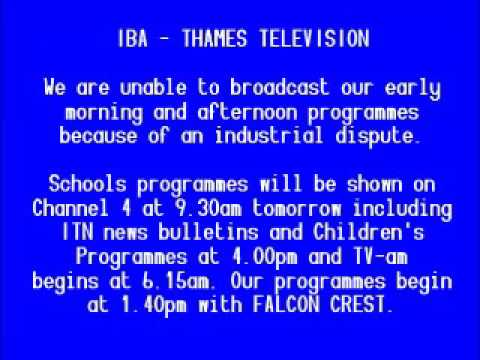 Thames Closedown (October 24th 1984)