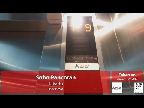 Brand New Mitsubishi Traction Parking Lifts/Elevators at Soho Pancoran, Jakarta