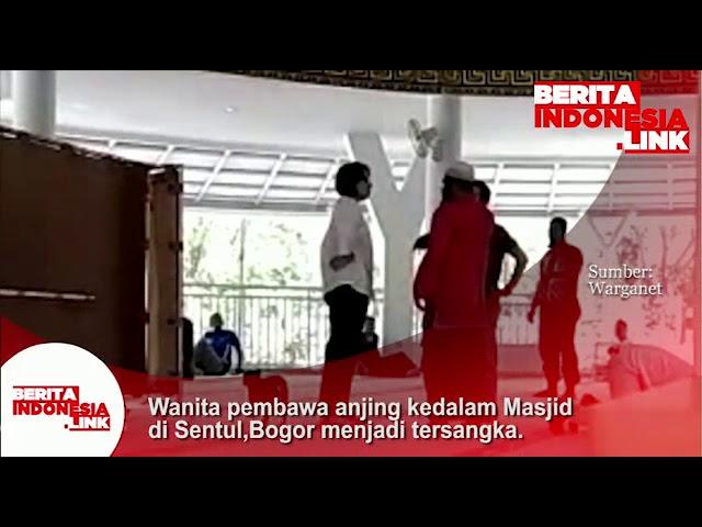 Wanita pembawa anjing kedalam Masjid di Sentul, Bogor akhirnya jadi tersangka.