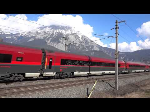 Rail Jet Train Austrian Alps