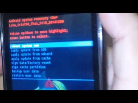 วิธีรีเซ็ต AIS Lava 4.5 (iris 700) กรณีลืมรหัสล็อกหน้าจอ