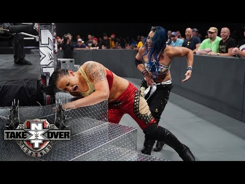 Mia Yim punishes Shayna Baszler's shoulder with steel steps: TakeOver: Toronto (WWE Network)