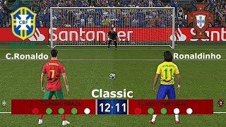 PES 2019 • Brasile  🆅🆂 Portogallo (Classic) Calci di Rigore • Patch [Giù]