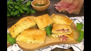 Quick pesto calzones: here's how to make this delicious appetizer in 20 minutes!