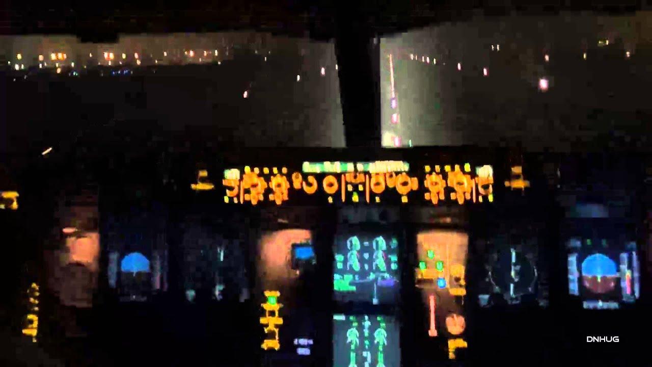 New Delhi Airbus A330-300 Night Cockpit Takeoff HD - ViYoutube
