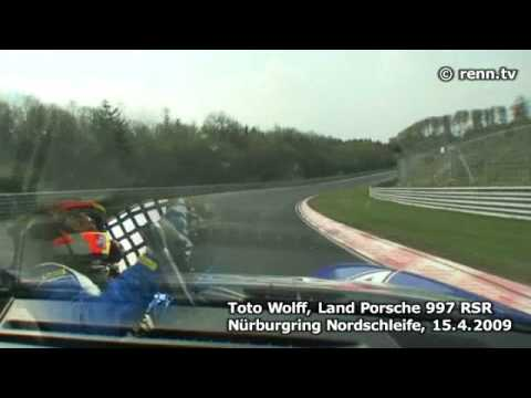 Crash after Toto Wolff´s Nürburgring Nordschleife Record of 7:03,28
