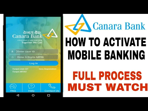 Canara Bank Wire Transfer | How To Activate Canara Bank Mobile Banking How To Activate