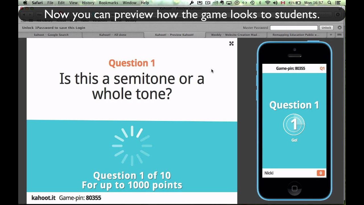 Previewing Game-Quizzes in Kahoot - YouTube