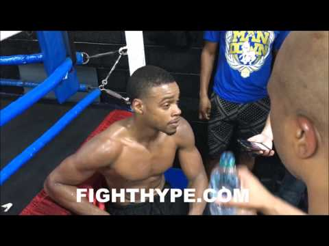 """ERROL SPENCE SAYS KEITH THURMAN """"DON'T WANT THE FIGHT""""; WARNS HE'S DEMANDING IT """"AFTER I BEAT KELL"""""""
