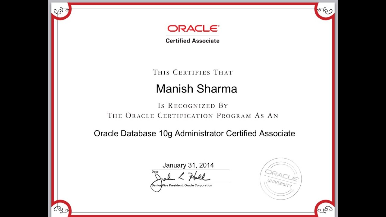 First Look Oracle Certified Associate Oca Certificate Oracle