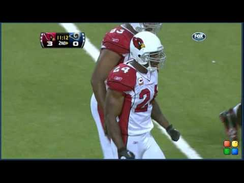 2010 Game 1: Bradford sacked by Adrian Wilson