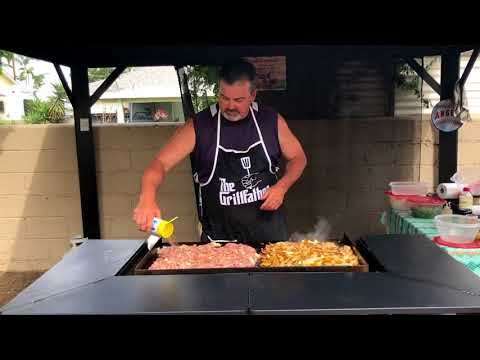 How to make Shrimp and Chicken Fried Rice (on a blackstone grill)