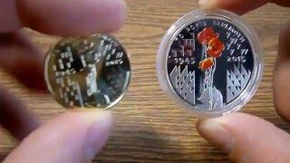 Монеты 1 и 5 гривен '70 лет победы'  Украина  2015