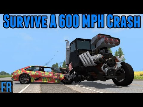 BeamNG Drive Challenge - Survive A 600 MPH Crash