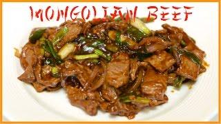 Stir Fried Mongolian Beef Recipe / English Closed Captions