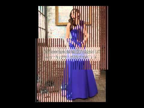 46. Navy Blue Bridesmaid Dresses.flv