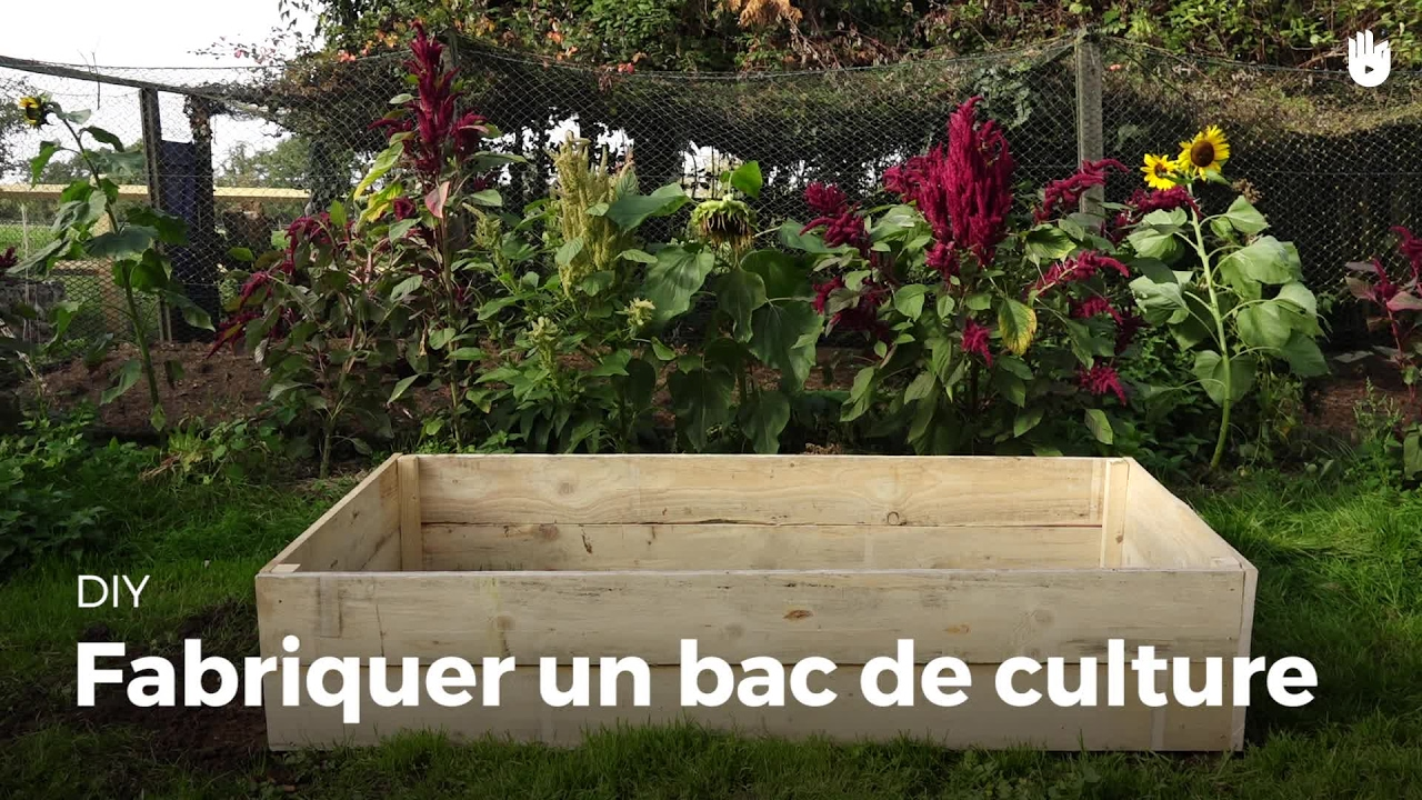 Fabriquer un bac de culture | Jardiner - YouTube