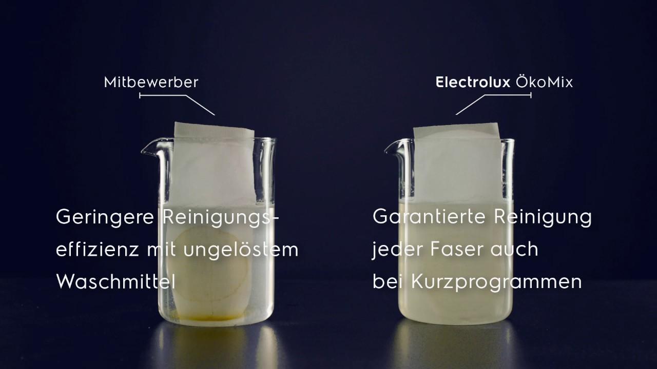 Electrolux wasl e oekomix technologie youtube