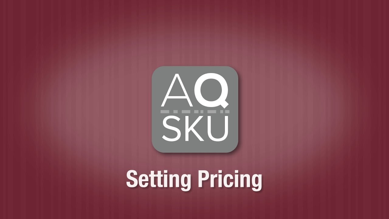 AQ SKU Pricing Setting